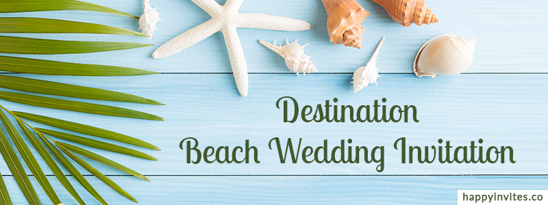 destination beach wedding invitation videos