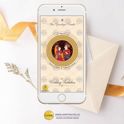 Hindu wedding invitation logo