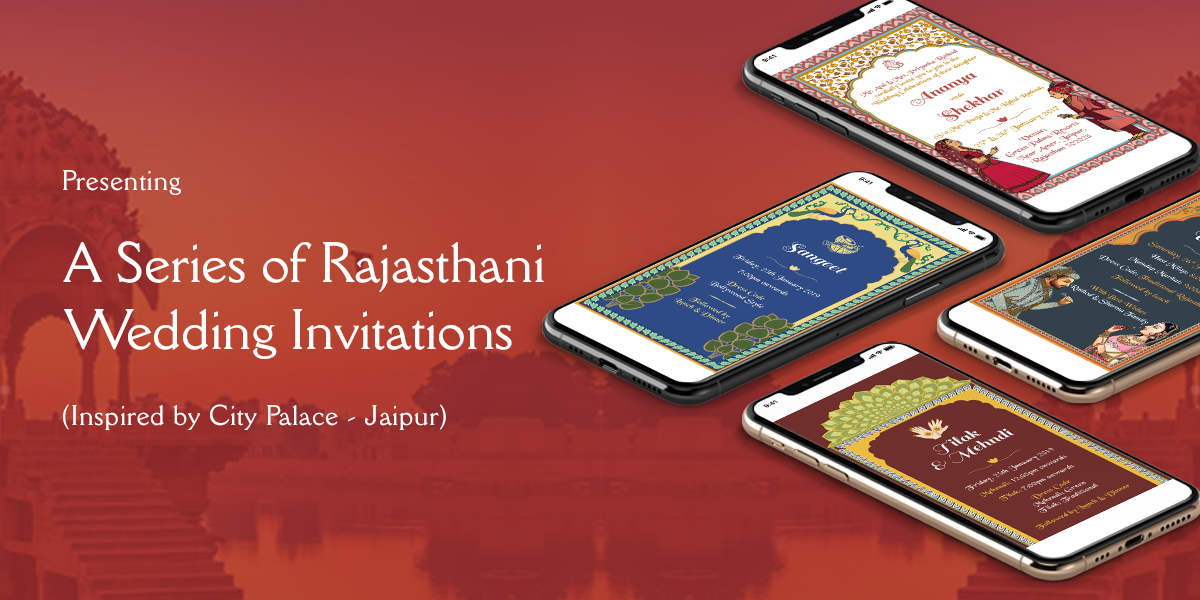 Rajasthani Wedding Invitation Banner