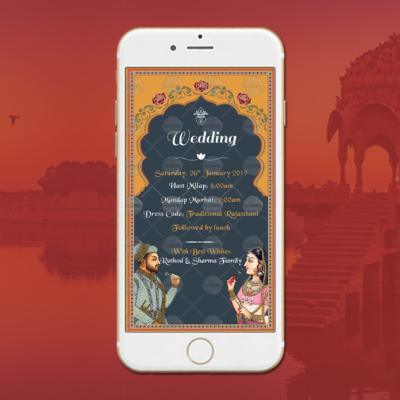 Rajasthani Wedding Invitation Card 2