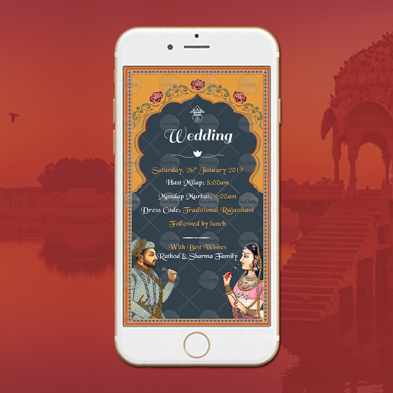 Rajasthani Wedding Invitation Card 2 Invitation Video