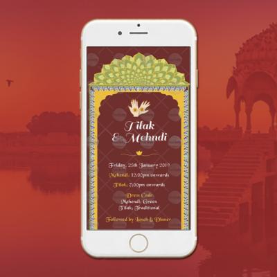 Rajasthani Wedding Invites