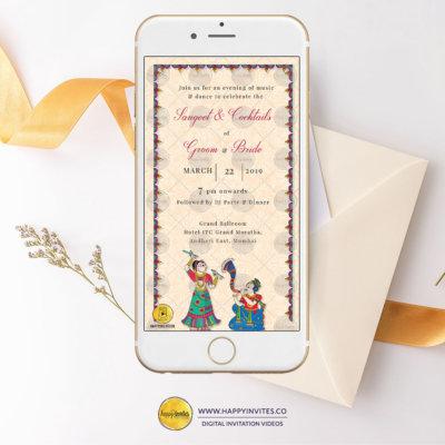 Sangeet invitation card