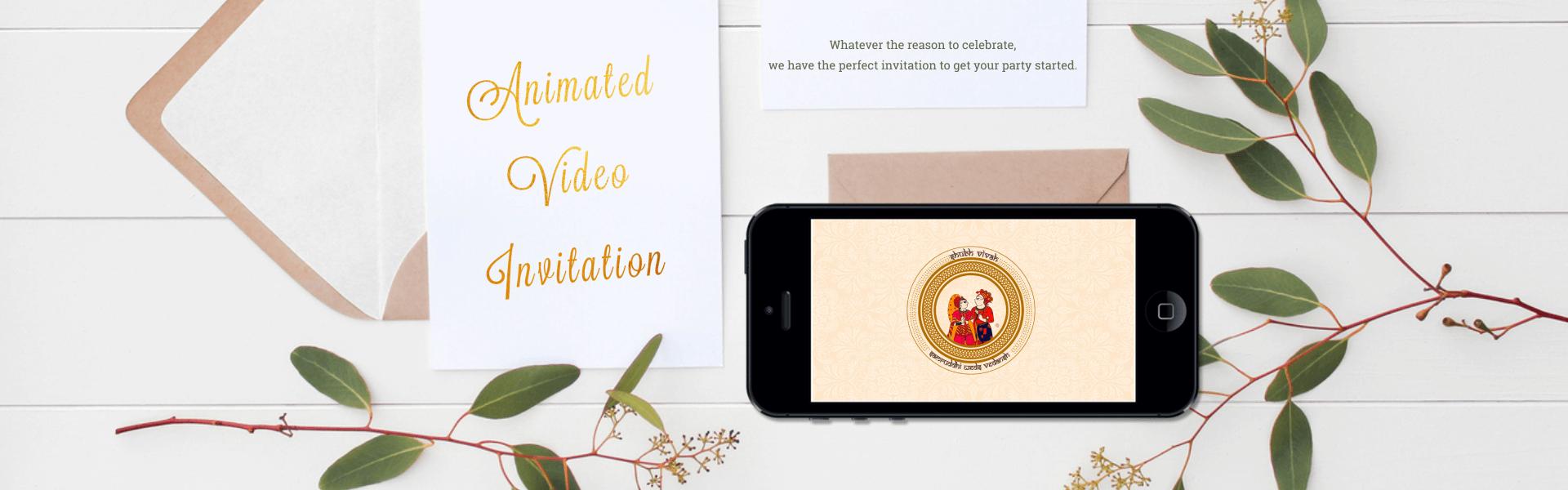 Wedding Invitation Video Maker Animated Online Invitations Happy