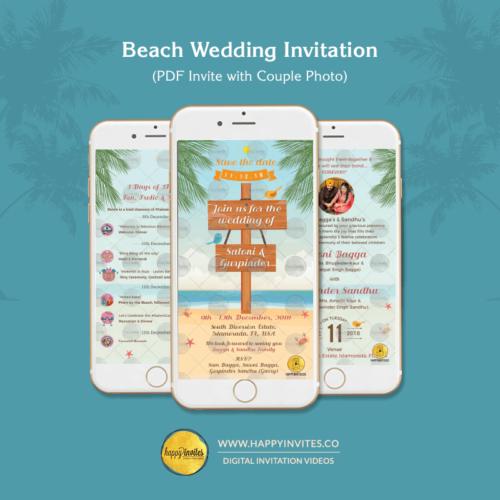 Beach Wedding Invitation PDF