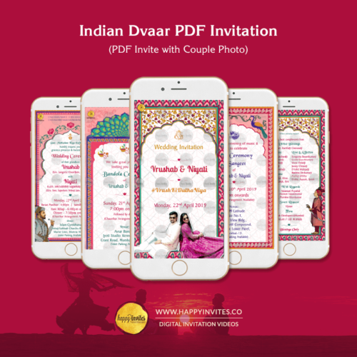 ID01 - Indian Dvaar Wedding PDF Invitation