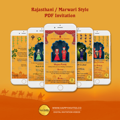 RM01 - Rajasthani Marwari Wedding PDF Invitation