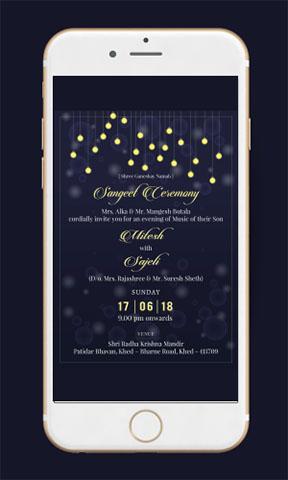 Sangeet Party Invitation Ecard
