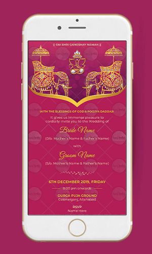 Save the Date for Indian Wedding