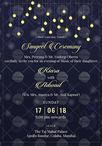 Sangeet Ecard Invitation