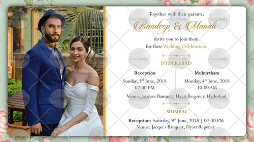 Wedding Reception Invitation Ecard