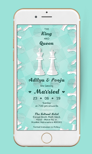 WE11 - King & Queen Wedding Invitation Card