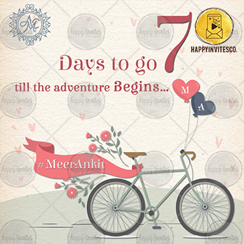 7 Day to Go Reminder Countdown E-card