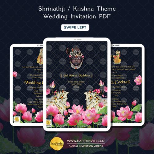Shrinathi Theme PDF Invitation