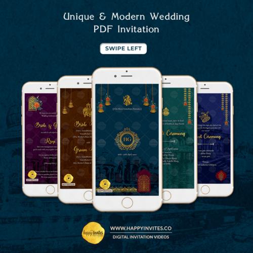 UM01 - Unique & Modern Wedding Invitation PDF