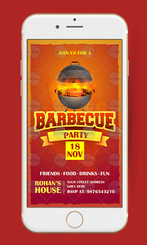 Barbeque Invitation Card