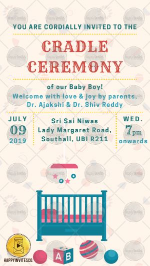 cradle ceremony invitation card maker