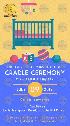 Cradle Ceremony Invitation Card Online