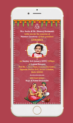 Mundan Invitation Card HappyInvites