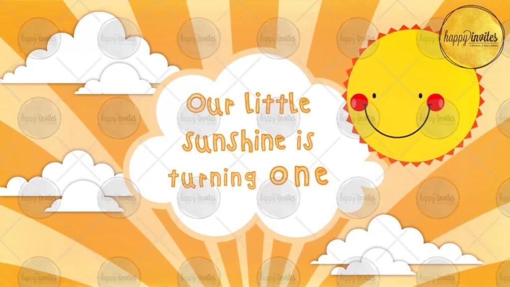 Birthday Party Invitation Video You Are My Sunshine Theme Whatsapp