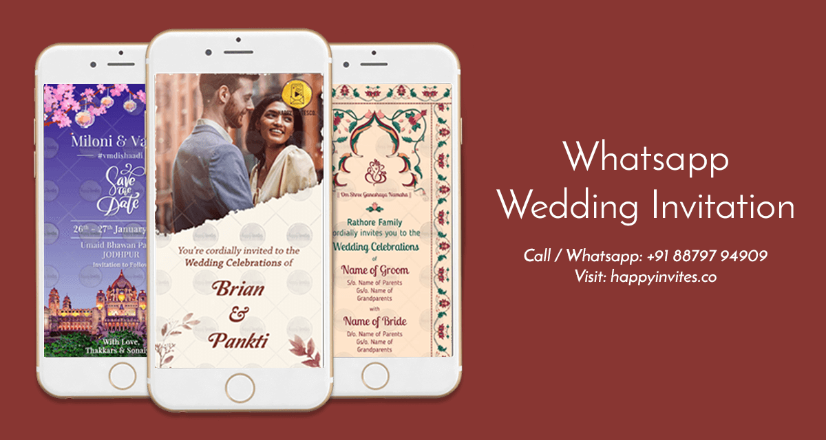Whatsapp Wedding Invitation Happy Invites Online Video Maker