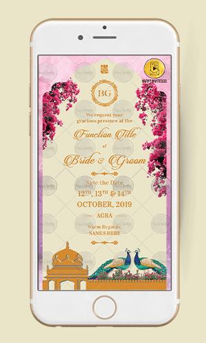 WE16 - Unique Save the Date Ecard Invitation