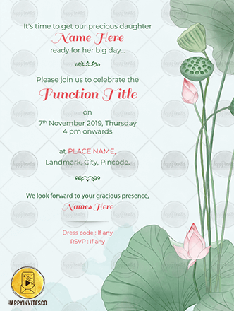 WE18 - Lotus Save the Date Ecard Invitation