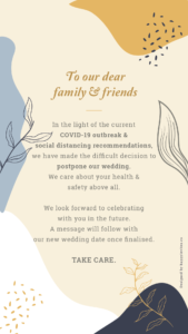 wedding postponed cards