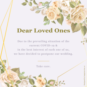 wedding postponed Floral Card
