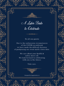 wedding postponed Royal Invitation Card