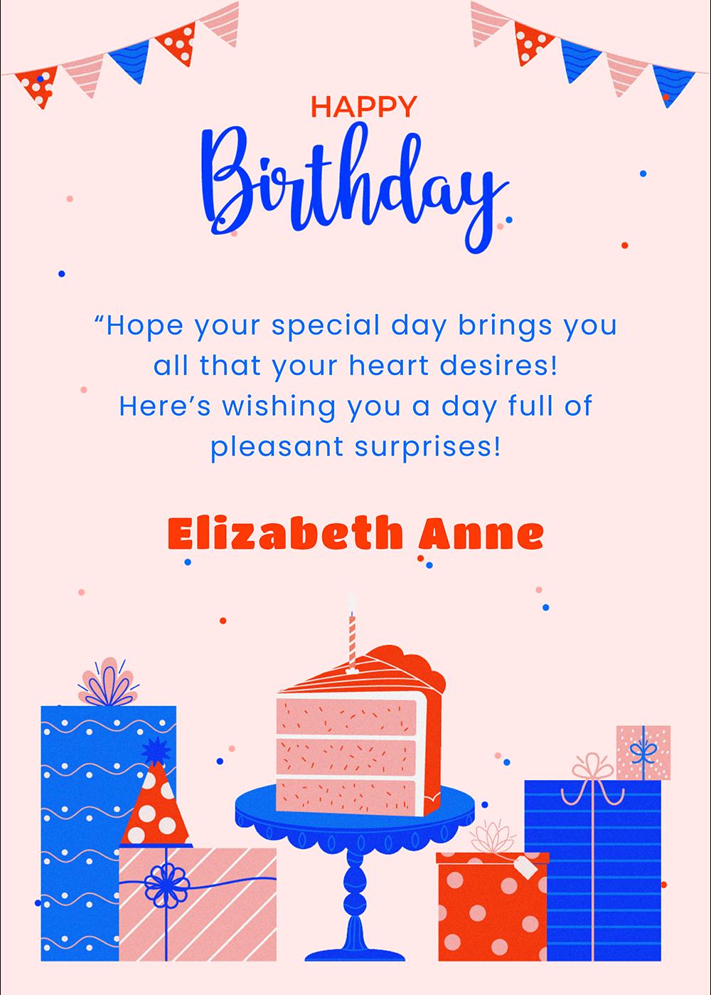 Cake & Gifts Greeting Card