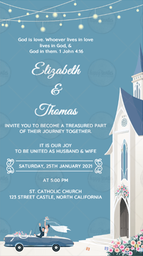 Christian Save the Date Card