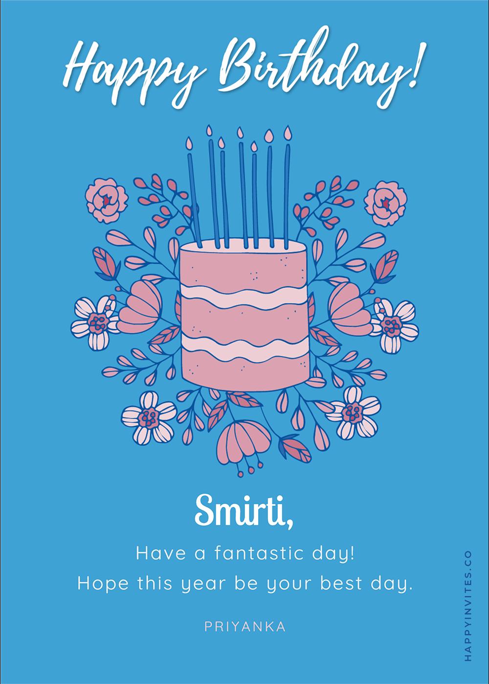 Hand drawn Card - Birthday Wishes Greeting Card