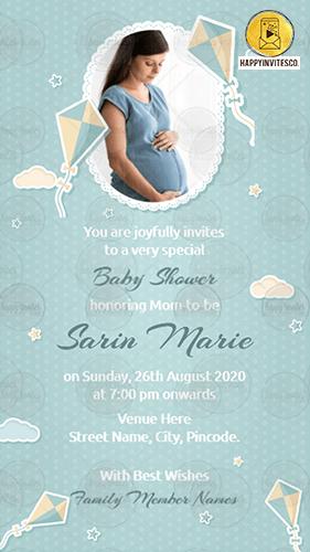 Stars & Kite Card Baby Shower