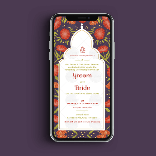 Modern Wedding Invitation Ecard