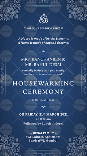 Traditional House Warming Invitation