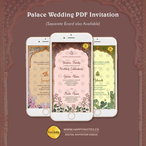 Palace Wedding PDF Invitation